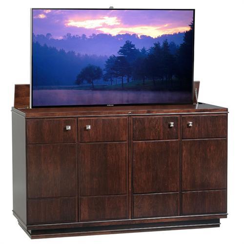 tv lift cabinet ashford manor lift for 40 65 inch screens espresso at006008. Black Bedroom Furniture Sets. Home Design Ideas