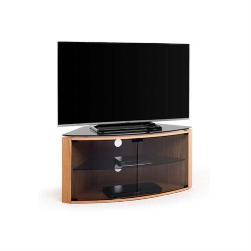 techlink bench corner 55 inch tv stand light oak with smoked glass b6lo. Black Bedroom Furniture Sets. Home Design Ideas
