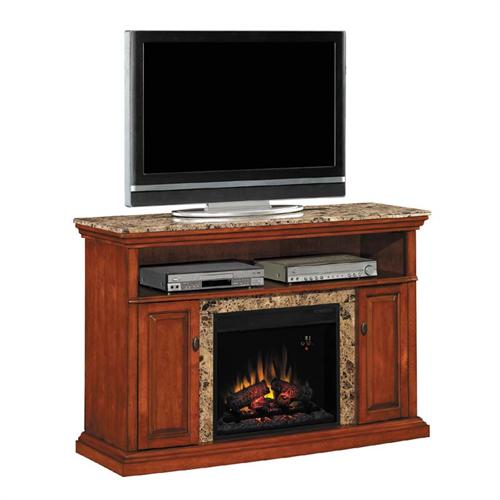View a larger image of the Classic Flame Brighton TV Stand with 23 in Electric Fireplace Insert (Honey) 23MM1424-W276.