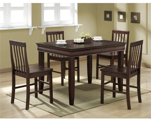 View a larger image of the Walker Edison Ashlyn 5 Piece Fancy Solid Wood Dining Set (Espresso) C48F2ES.