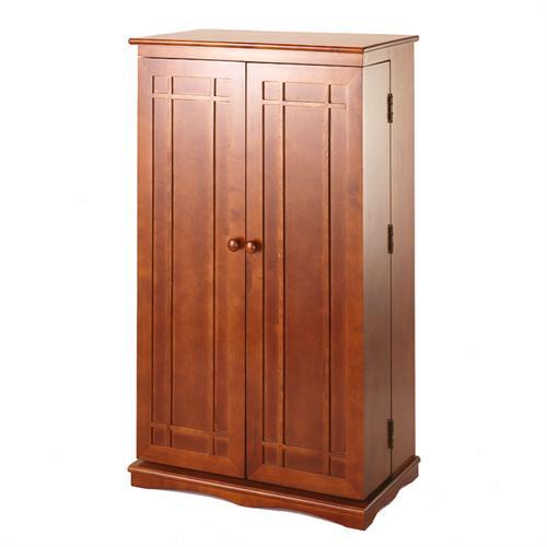 leslie dame mission style multimedia cabinet walnut cd 612wal. Black Bedroom Furniture Sets. Home Design Ideas