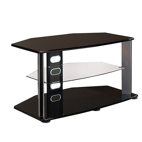 haropa 40 in tv stand with glass middle shelf black hpobg144