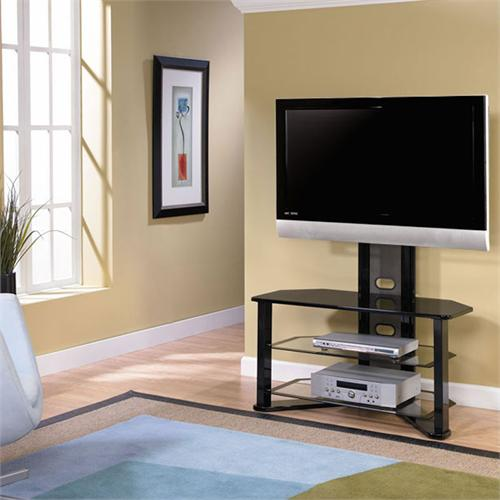 View a larger image of the Z-Line Designs Madrid Corner Glass TV Stand with Integrated Mount for 32-50 inch Screens ZL541-44MU.