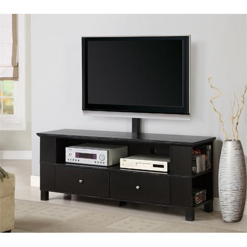 walker edison 60 wood tv console for flat screen tvs up to 65 with mount and multi purpose. Black Bedroom Furniture Sets. Home Design Ideas