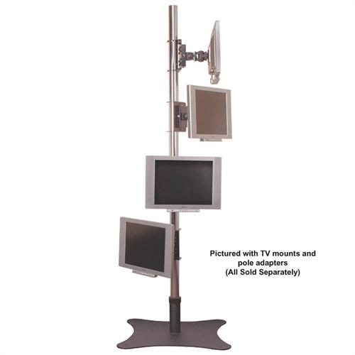 Floor Pole Mount with Offset Base Is a Sturdy Stand for Your LCD