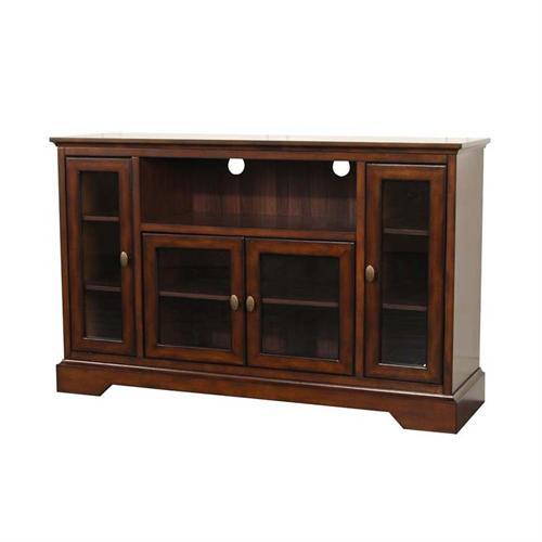 Walker Edison Antique Style Highboy 55 inch TV Cabinet ...