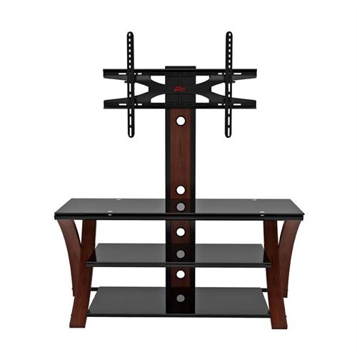 "View a larger image of the Z-Line Designs Makena 3-in-1 Black Glass 60"" TV Stand with Integrated Mount (Cherry) ZL434-50MxviiU."