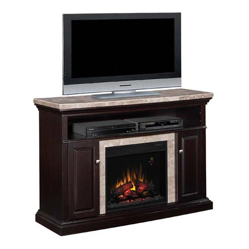classic flame brighton media mantel with electric fireplace insert and marble top black 23mm1424. Black Bedroom Furniture Sets. Home Design Ideas