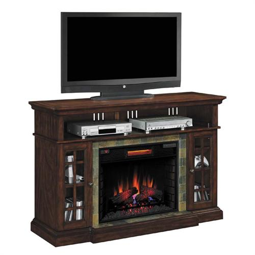 View a larger image of the Classic Flame Lakeland 65 inch TV Stand with Electric Fireplace Insert (Cherry) 28MM6307-C270.
