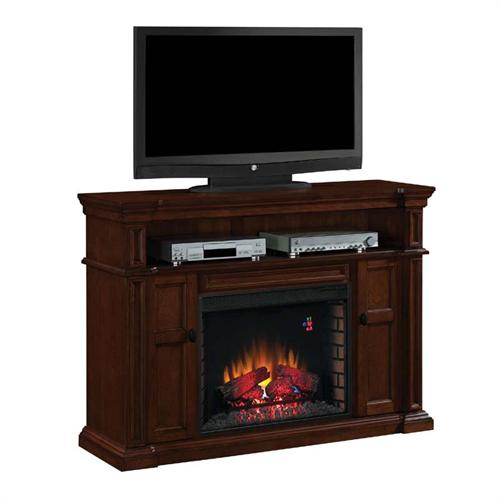 View a larger image of the Classic Flame Wyatt Electric Fireplace 65 inch TV Stand (Mahogany) 28MM4684-M313.