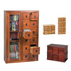 Library Apothecary Media CD DVD Cabinets