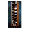 View a larger image of the Wood Shed Solid Oak Tall CD DVD VHS Storage Rack (Various Finishes) 211-4.
