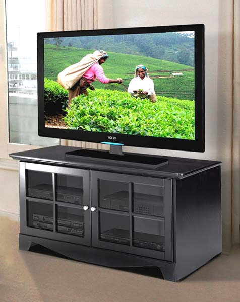 Black Lacquer 100406 View A Large Image Of The Nexera Pinnacle Series 52 In Flat Panel Tv Stand