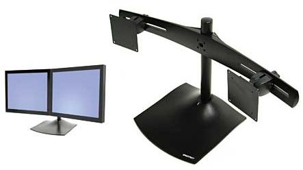 View a large image of the Ergotron DS100 Horizontal 2 Monitor Desktop Stand for 10-24 inch Screens 33-322-200 here.