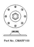View a large image of the Lucasey Round Ceiling Flange for 1 inch ID Pipe CMARF100 here.