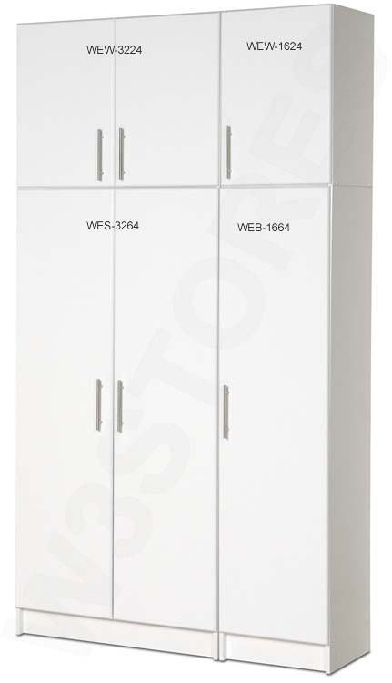 Wonderful Prepac Elite Collection Storage Cabinet For Garage Or Laundry Room (White)  WES 3264