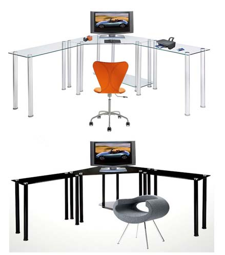 small modern desk designs computer glass id fireweed latest black