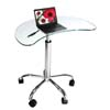 View a larger image of the RTA Mobile Glass Kidney-Shaped Laptop Stand LT-020.