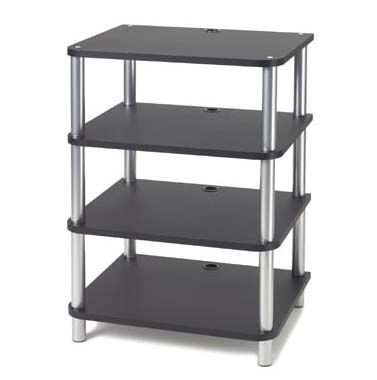 sanus accurate furniture series 4 shelf modular audio rack system black afab. Black Bedroom Furniture Sets. Home Design Ideas