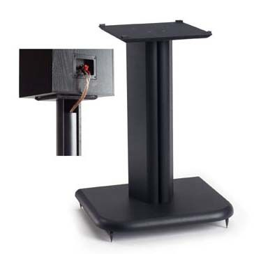 View a large image of the Sanus Foundations Basic Series 16 inch Wood Speaker Stands BF16-B1 Black Ash here.