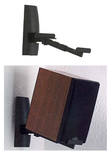 View A Larger Image Of The Sanus Speaker Wall Mounts For Bookshelf Speakers Black WMS2