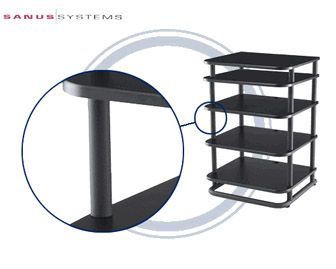 View a large image of the Sanus Euro Furniture Series II 12 in. Extended Pillars for EFAS and EFVS Black EFP12-B1 here.