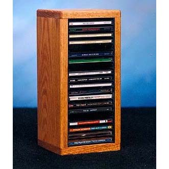 Wood Shed Solid Oak Cd Rack Tws 109 1