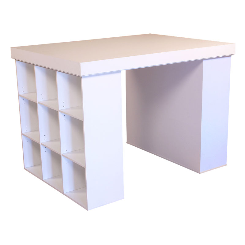 Venture Horizon Project Center Table With Bookcase Sides