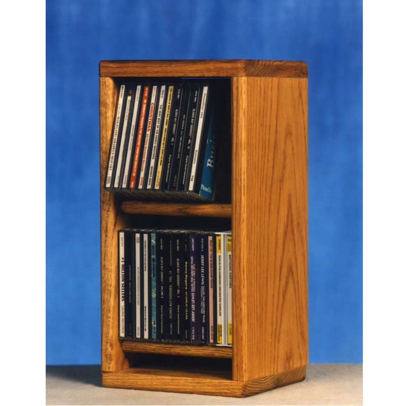 Wood Shed Solid Oak Cd Storage Rack Tws 206