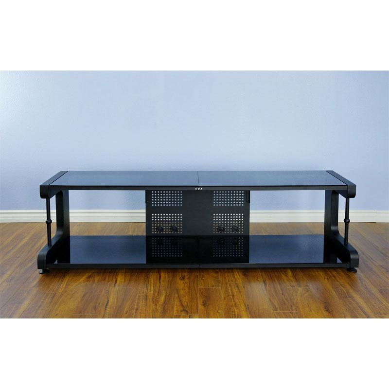 75 tv stand. VTI 20800 Series 75 Inch TV Stand AV Rack (Black Frame Black Glass) 20844 Tv G