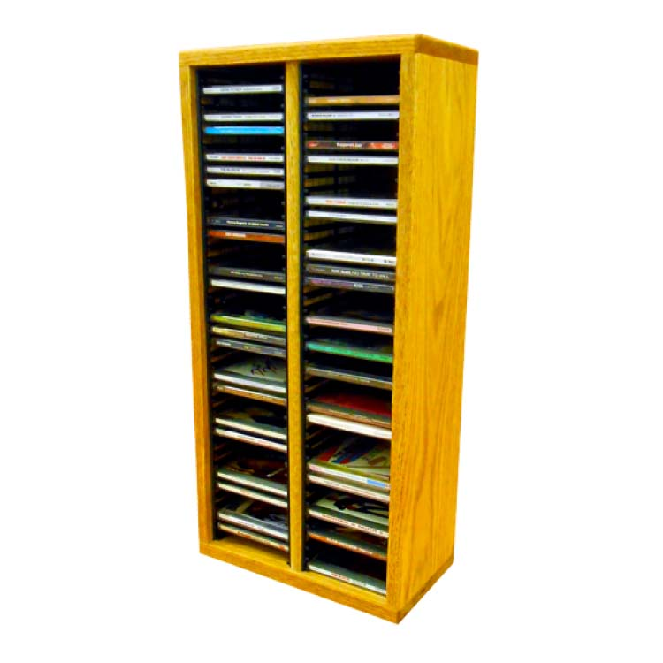 View A Larger Image Of The Wood Shed Solid Oak Cd Rack 80 Capacity
