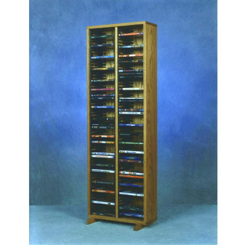 Wood Shed Solid Oak Dvd Storage Rack Various Finishes 210 4dvd
