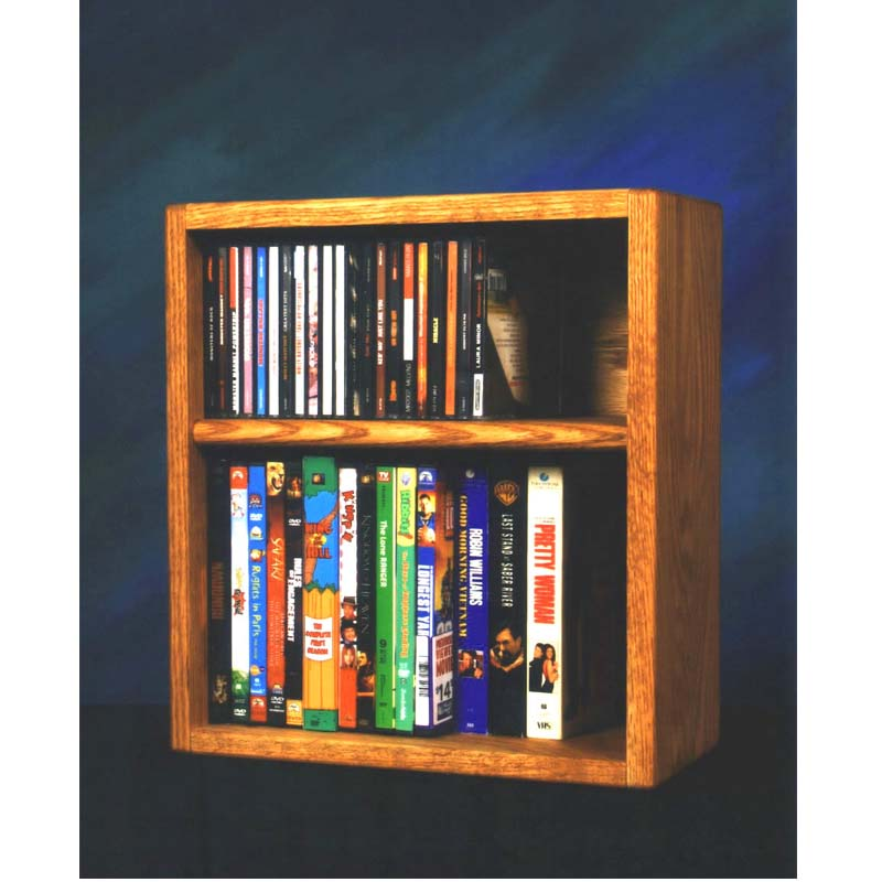 Wood Shed Solid Oak Cd Dvd Vhs Rack Various Finishes 211 1w