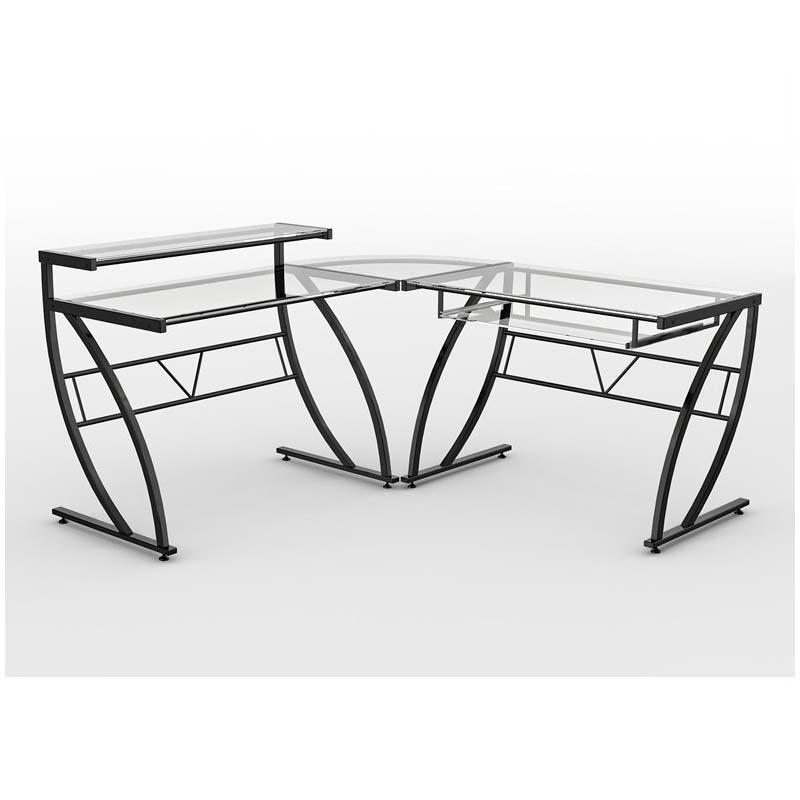 Z Line Designs Feliz L Shaped Corner Desk Black Zl1441 2du