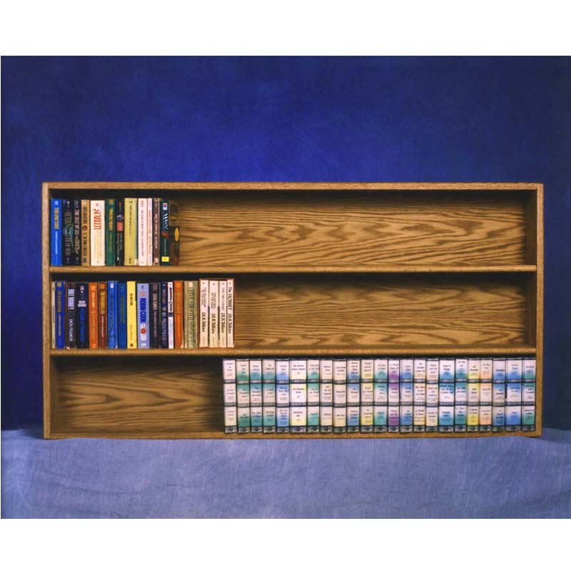 Wood Shed Solid Oak Wall Mounted Shelf For Dvd And Vhs Or Books Various Finishes Tws 308 4w