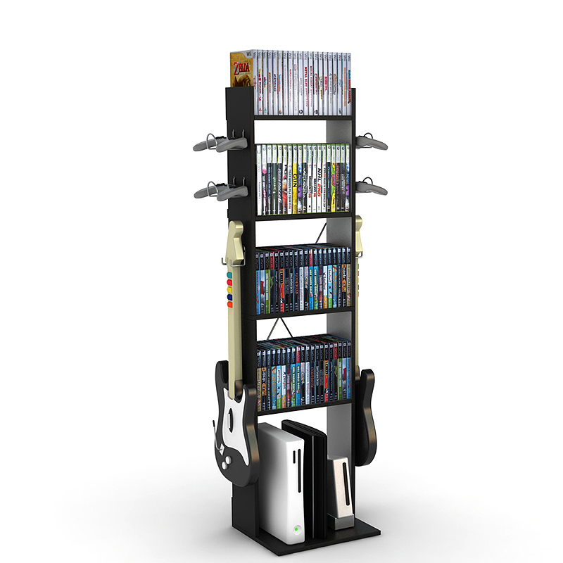 Atlantic Game Central Series Audio Tower With Shelves