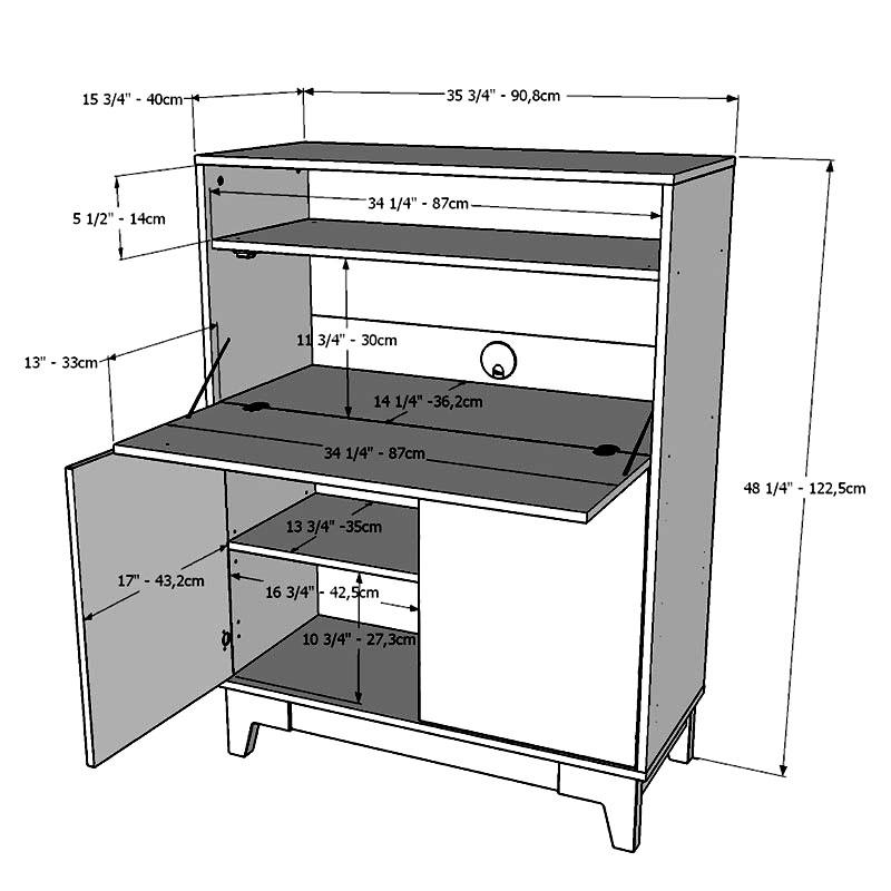 Nexera Boss Secretary Desk White And, Secretary Desk Dimensions