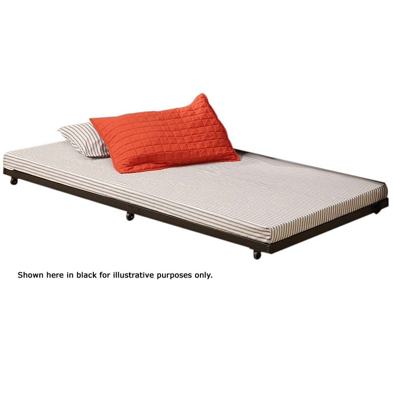 Walker Edison Twin Roll-Out Trundle Bed Frame White BT40TBWH