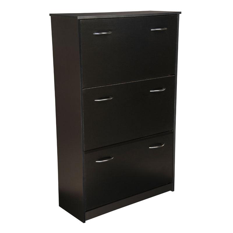 Superbe Venture Horizon Triple Shoe Cabinet (Black) 4240 21BL