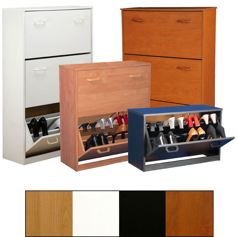 View A Larger Image Of The Venture Horizon Stackable Shoe Cabinets Various Finishes And Sizes