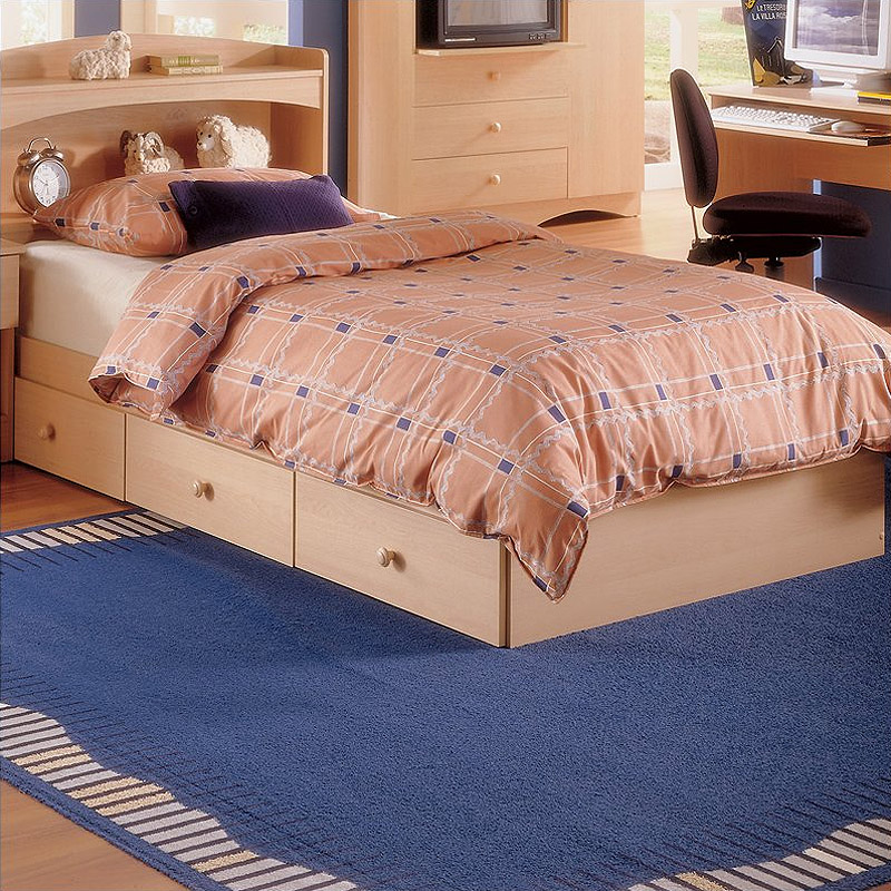 Nexera Alegria Series Twin Or Full Storage Bed Natural