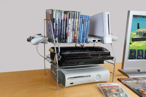 Atlantic game depot series wire gaming rack for game for Game storage ideas