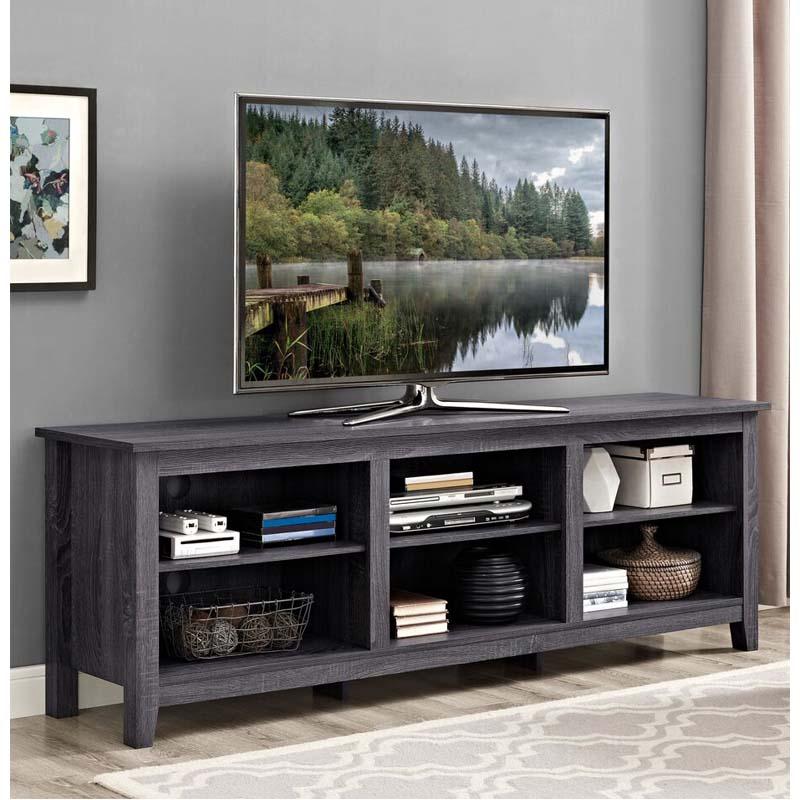 Walker Edison Essentials 70 Inch Tv Stand Charcoal W70cspcl
