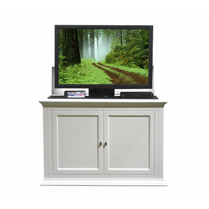 touchstone seaford tv lift cabinet for flat screens up to 50 inches white 73011. Black Bedroom Furniture Sets. Home Design Ideas