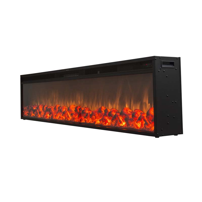 Touchstone Emblazon 72 In Wall Mounted Electric Fireplace No Heat 80103