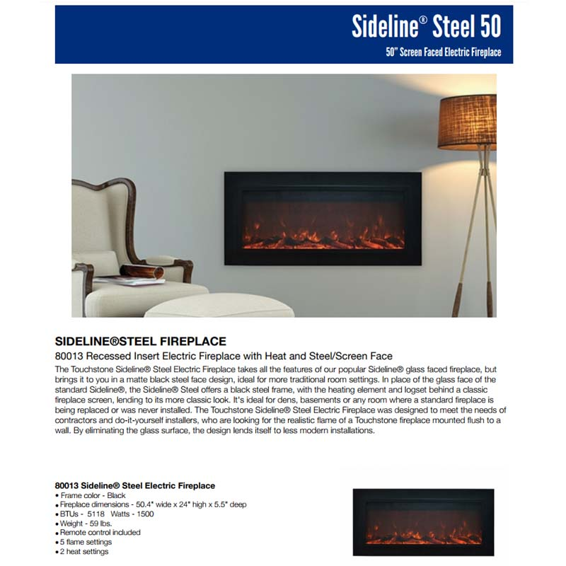 50 Inch Wall Mounted Electric Fireplace