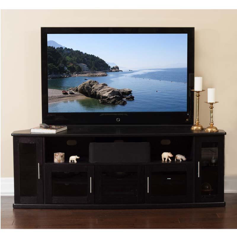 plateau newport series corner wood tv cabinet with glass. Black Bedroom Furniture Sets. Home Design Ideas