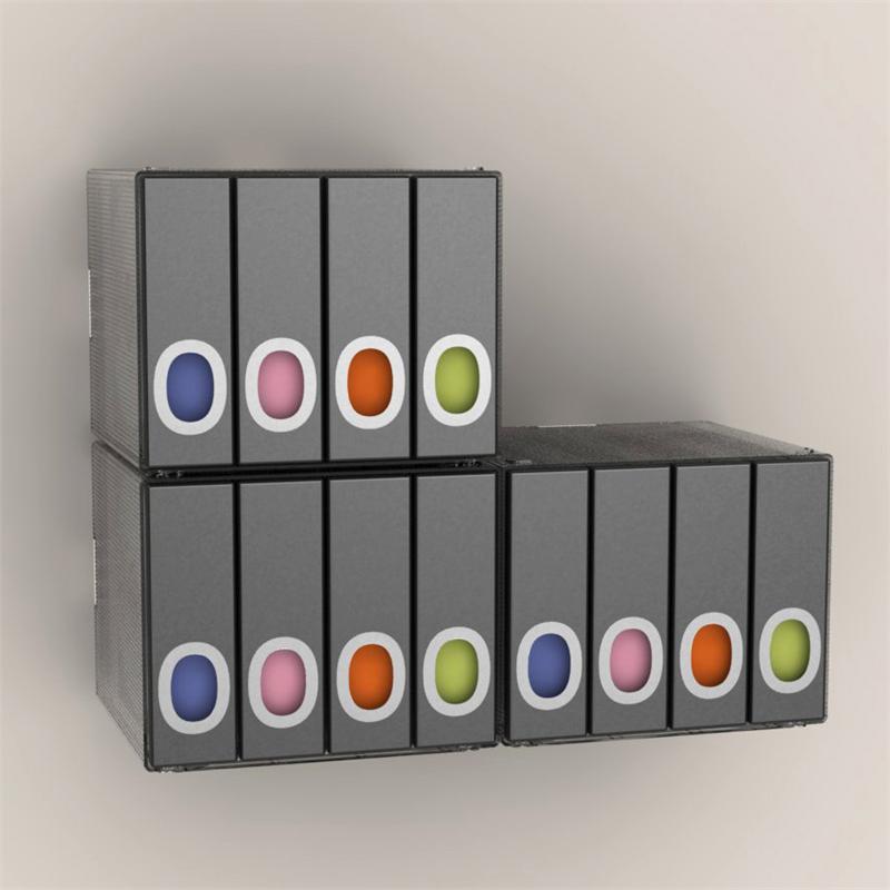 Beau Atlantic Disc Album Cube 96 Disc (Black) 96635496