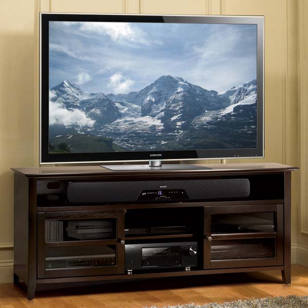 Bello No Tools Assembly 65 Inch Wood Tv Cabinet Dark