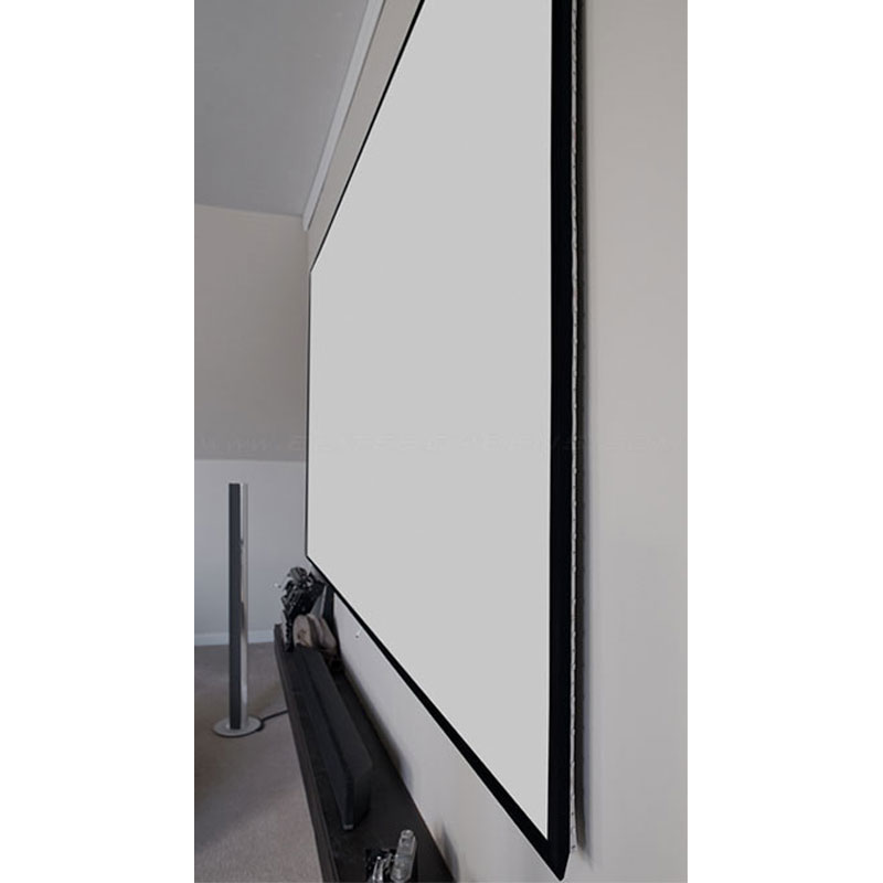 View A Larger Image Of The Elite Screens Edge Free Aeon Fixed Frame Projection Screen Ar100wh2